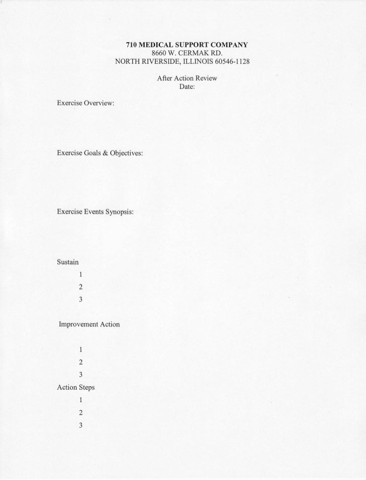 after action review template pdf