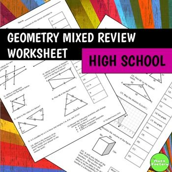 high school math review worksheets